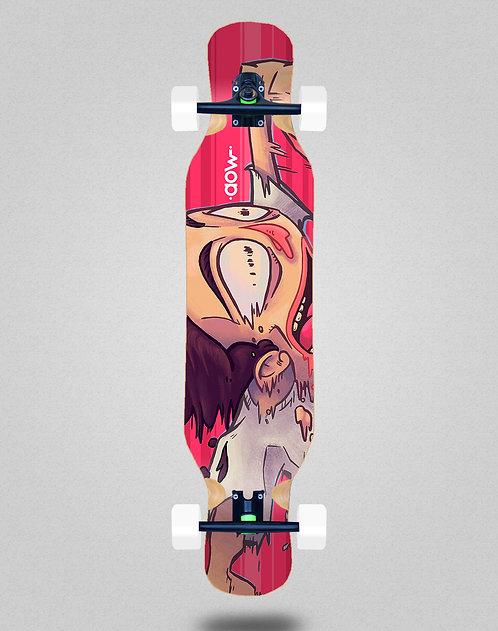 Aow Fastskate red longboard complete 46x10