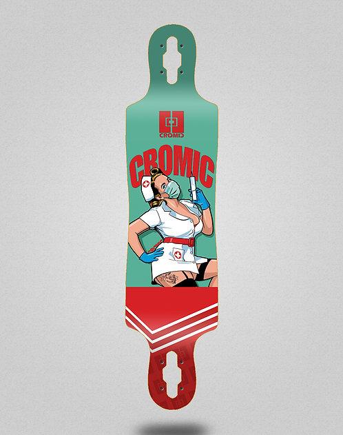 Cromic Covid Nurse longboard deck 40x9
