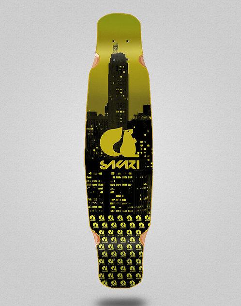 Sakari City yellow longboard deck dance 46x9