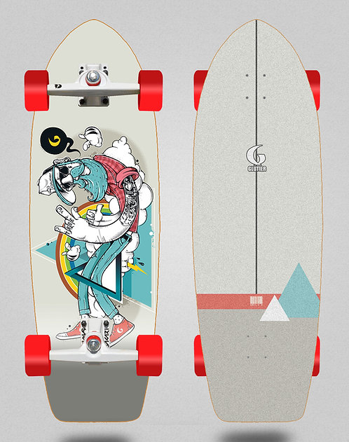Glutier surfskate - Abel G.N. 29 with SGI trucks