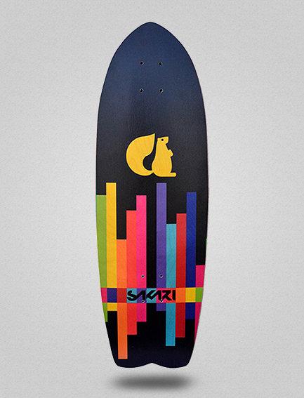 Sakari surfskate deck - Fluor lines 29