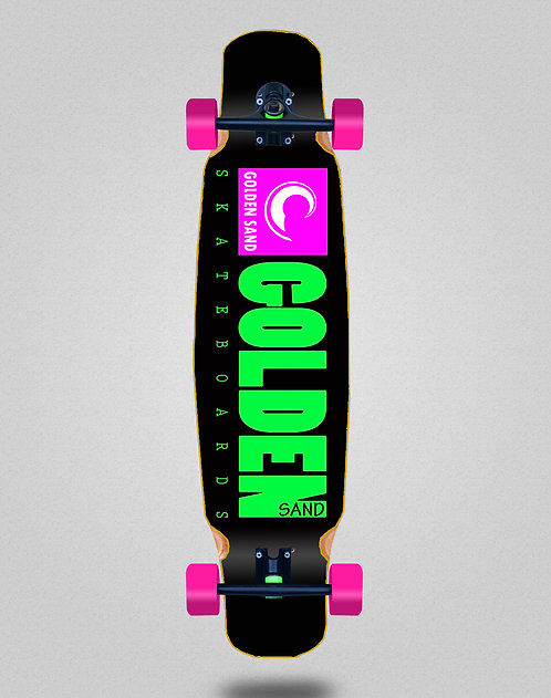 Golden Sand Icon black pink longboard dance complete 46x9