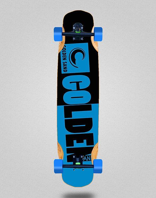 Golden Sand Degraded tone blue black longboard complete 38x8.45
