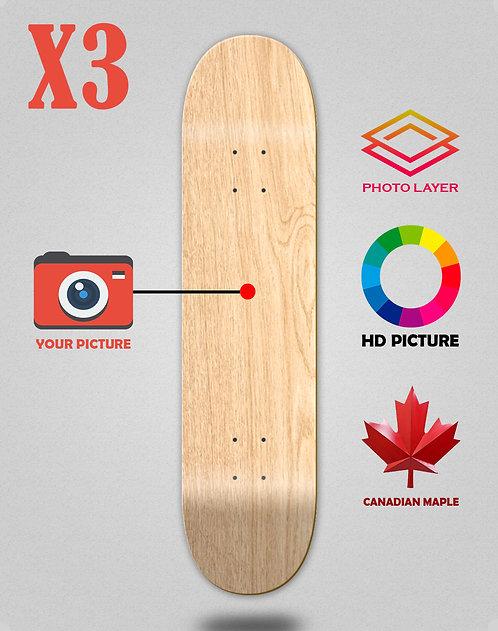 Personalizador skateboards decks X3 unidades