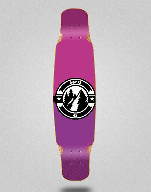 Sakari Downhill juice pink longboard deck dance 46x9