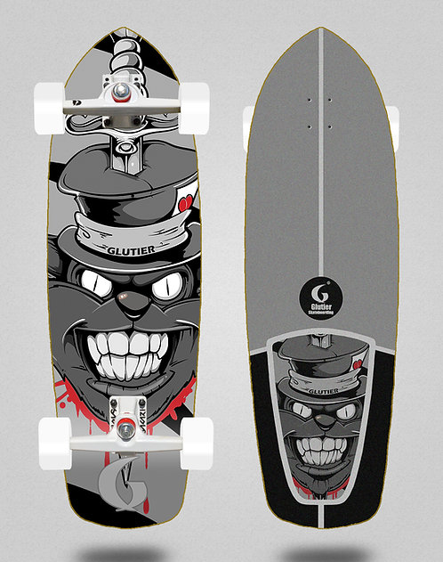 Glutier surfskate - Gr cat grey 34 SGI trucks