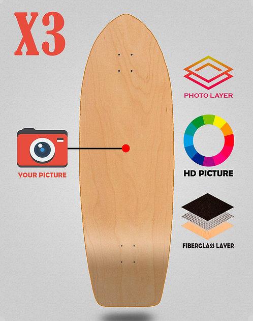 Personalizador surfskate deck 29 X3 unidades