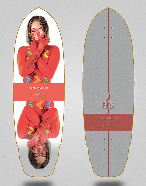 Black Revolver surfskate deck Paas 32 special
