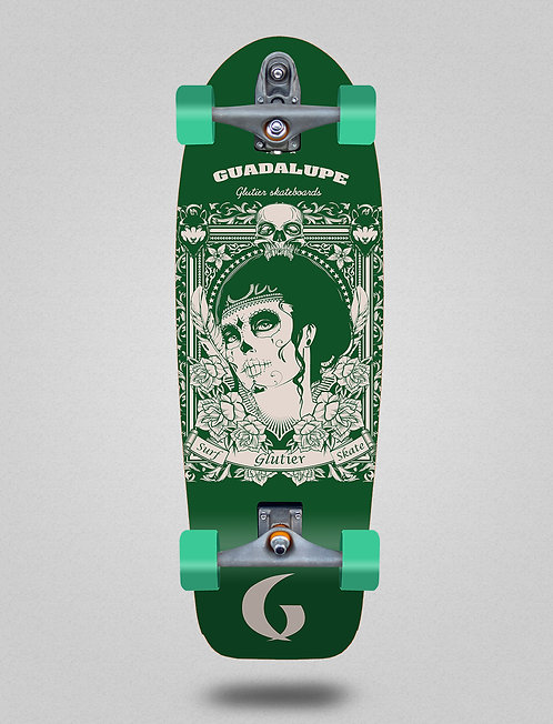 Glutier surfskate : Guadalupe green 30,5