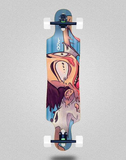 Aow Fastskate blue longboard complete 40x9