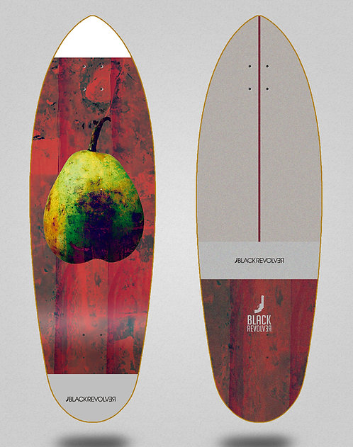 Black Revolver surfskate deck Rotten fruit 2 32.5