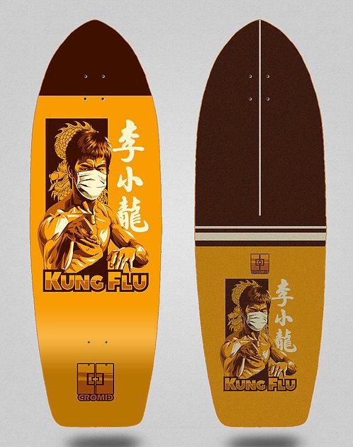 Cromic surfskate deck - Covid Kung flu 29