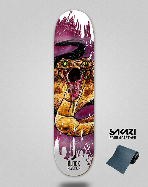 Black Revolver skate deck Animalia cobra