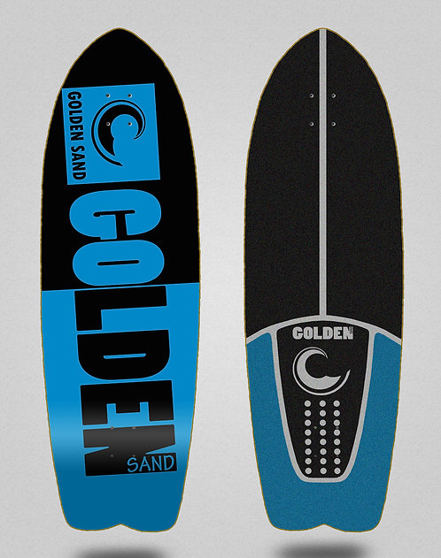 Golden Sand deck - Degraded tone black blue 29 fish