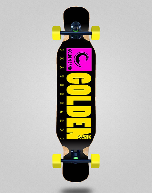 Golden Sand icon pink yellow longboard complete 46x10