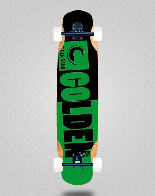 Golden Sand Degraded tone black green longboard complete 38x8.45