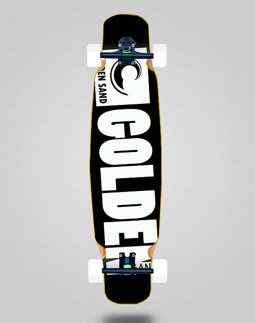 Golden Sand Degraded blk white longboard dance complete 46x9