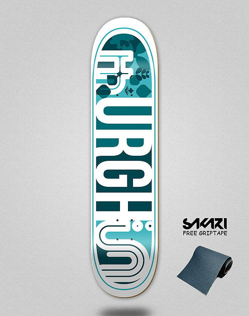 Urgh skate deck Leaf blue