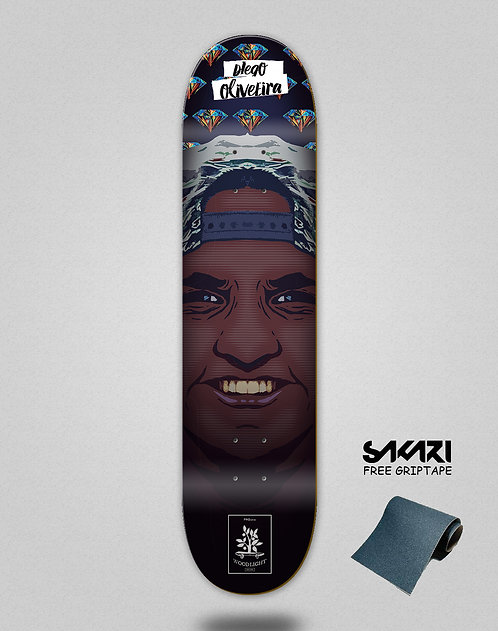 Wood light skate deck Oliveira pro ghetto