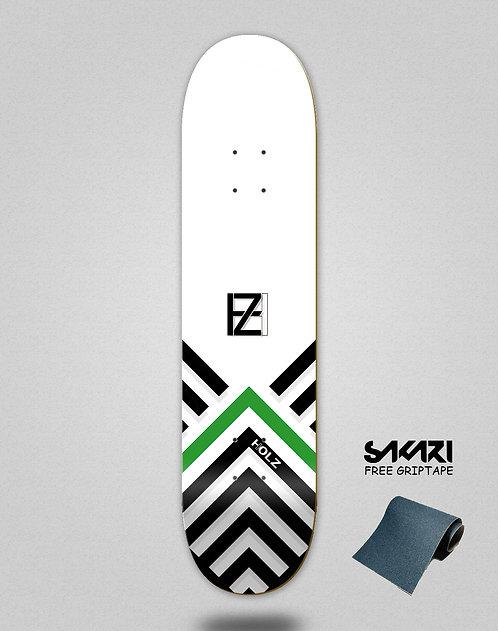 Holz Gram BW Akira white skate deck