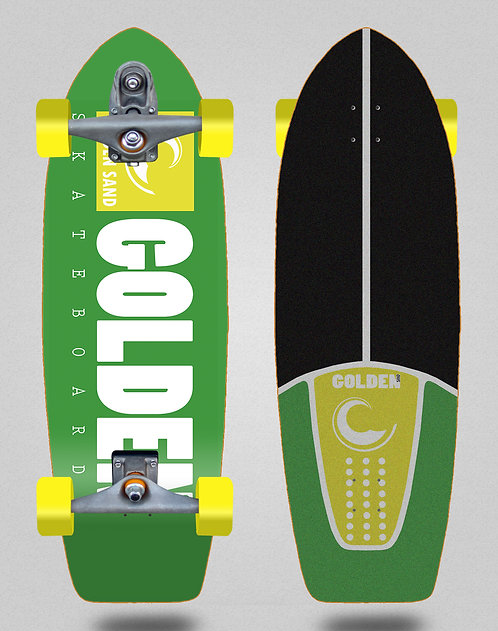 Golden Sand surfskate T12 trucks icon green yellow white 29