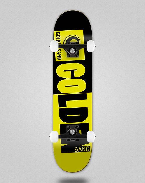 Golden Sand Degraded tone black yellow skate complete