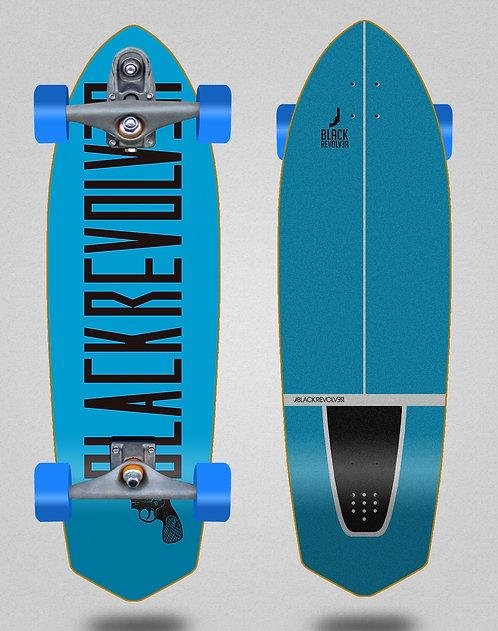 Black Revolver surfskate T12 trucks Color blue black 33