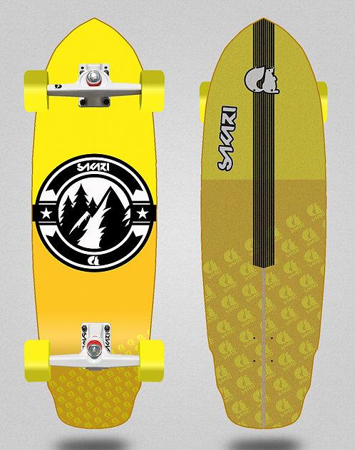 Sakari surfskate Downhill juice yellow 32 special