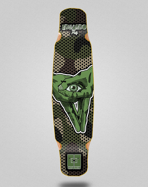 Cromic Eduardo Prieto Stamp army longboard deck dance mix bamboo 46x9
