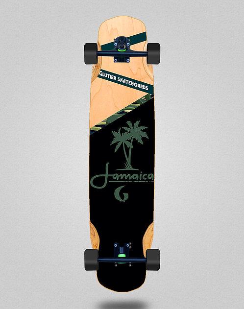 Glutier Jamaica wood longboard complete 38x8.45