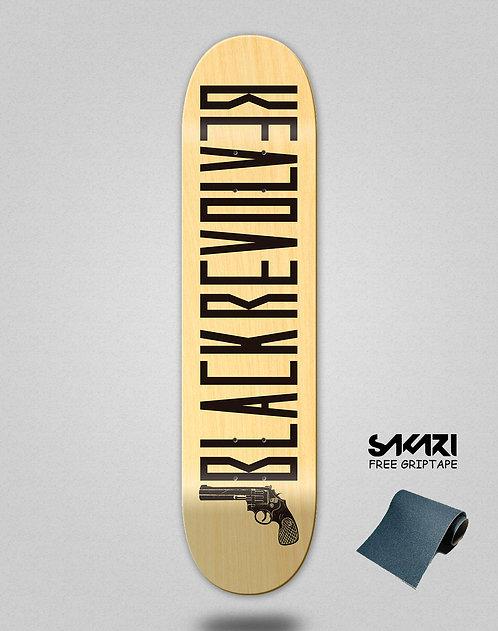 Black Revolver skate deck Color wood