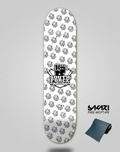 South force skate deck NF white