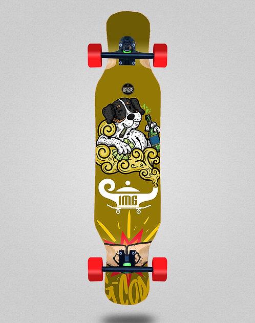 Skate Shok G-Code yellow longboard complete 46x10