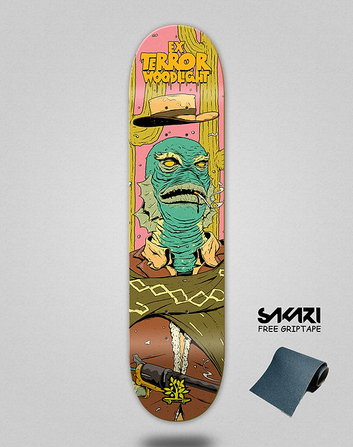Wood light skate deck Ex terror waterman