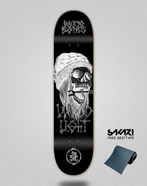 Wood light skate deck Back to bones Ortiz black