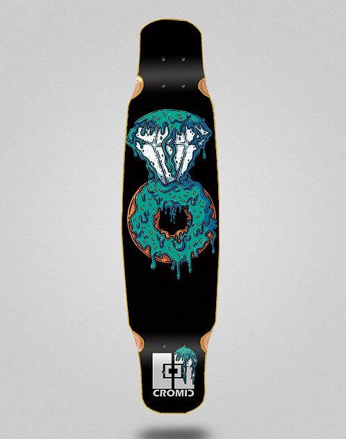 Cromic Donat blue longboard deck dance mix bamboo 46x9