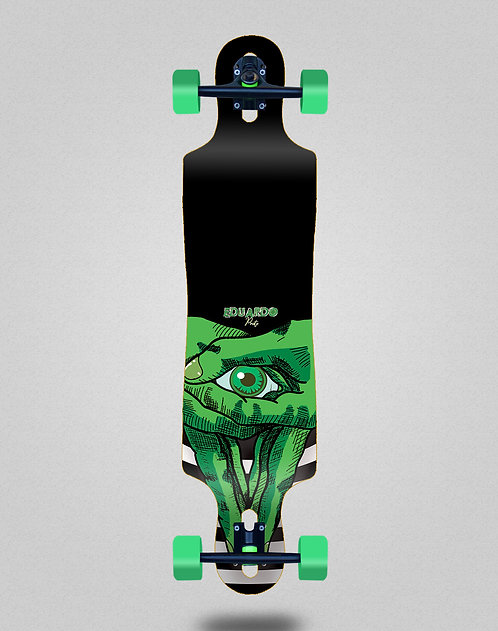 Cromic Eduardo Prieto Classic green longboard complete 40x9