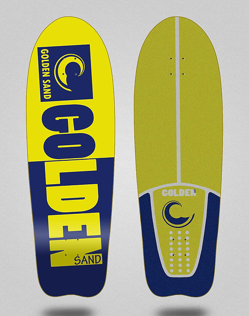 Golden Sand deck - Degraded tone yellow blue 31 fish