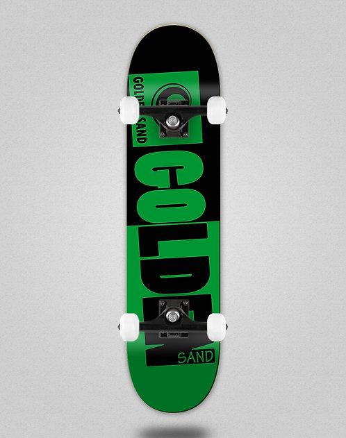 Golden Sand Degraded tone green black skate complete