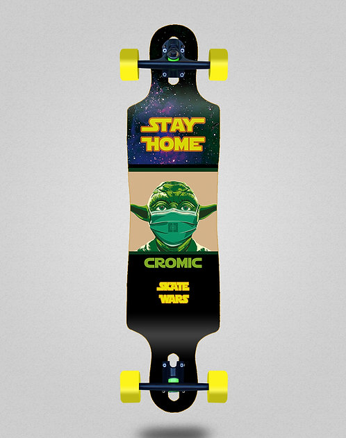 Cromic Covid Skate wars longboard complete 40x9