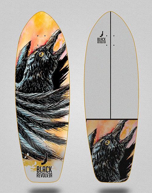 Black Revolver surfskate deck Acril Cuervo 31