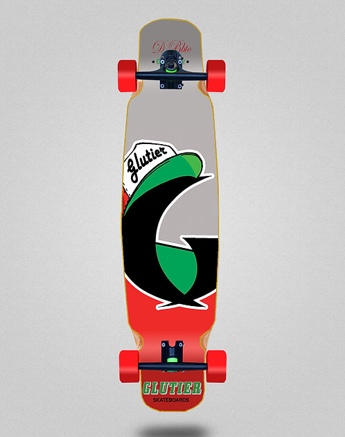 Glutier California red longboard dance complete 46x9