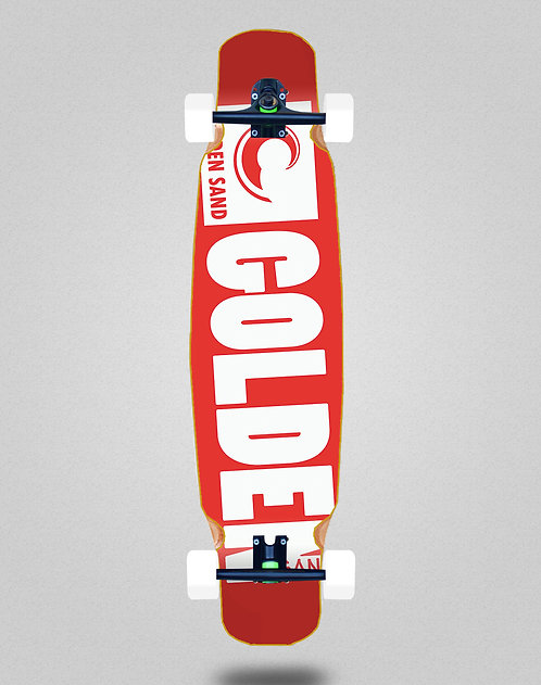 Golden Sand Degraded red white longboard dance complete 46x9