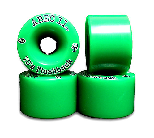 Longboard wheels (set 4).Ruedas skate longboard Abec 11 Flashback 70mm-81a