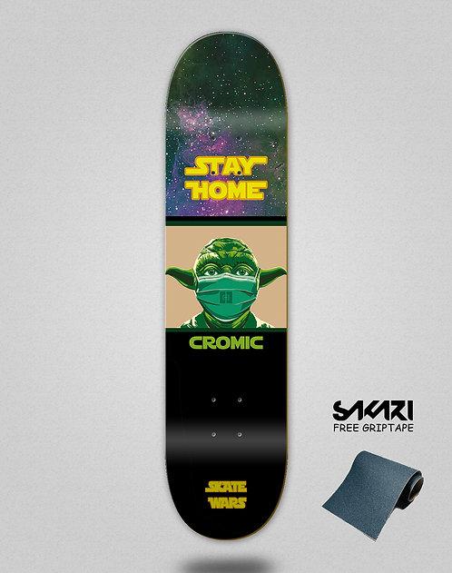 Cromic Covid Skate wars skate deck