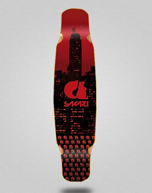 Sakari City red longboard deck dance 46x9