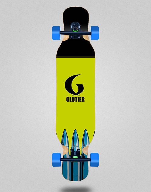 Glutier Bullets fluor longboard complete 46x10