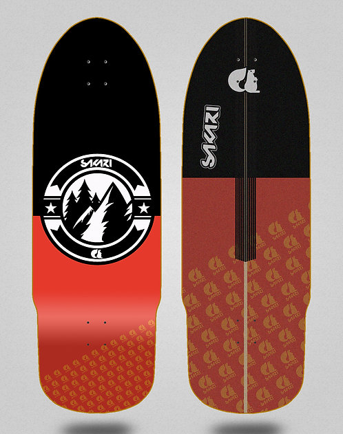 Sakari surfskate deck Downhill juice black red 32
