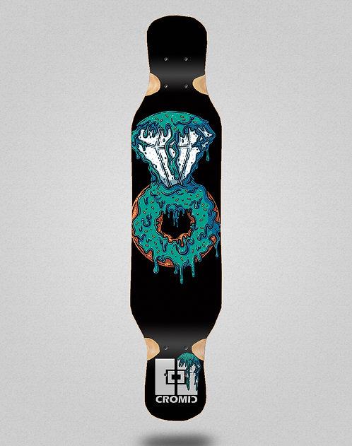 Cromic Donat blue longboard deck 46x10