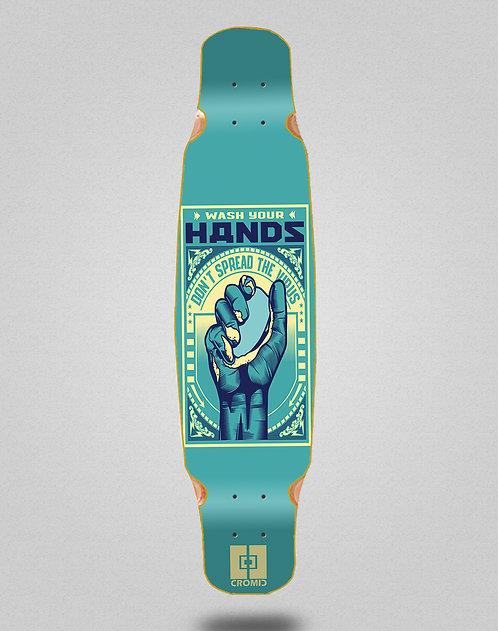 Cromic Covid Wash your hands longboard deck dance 46x9